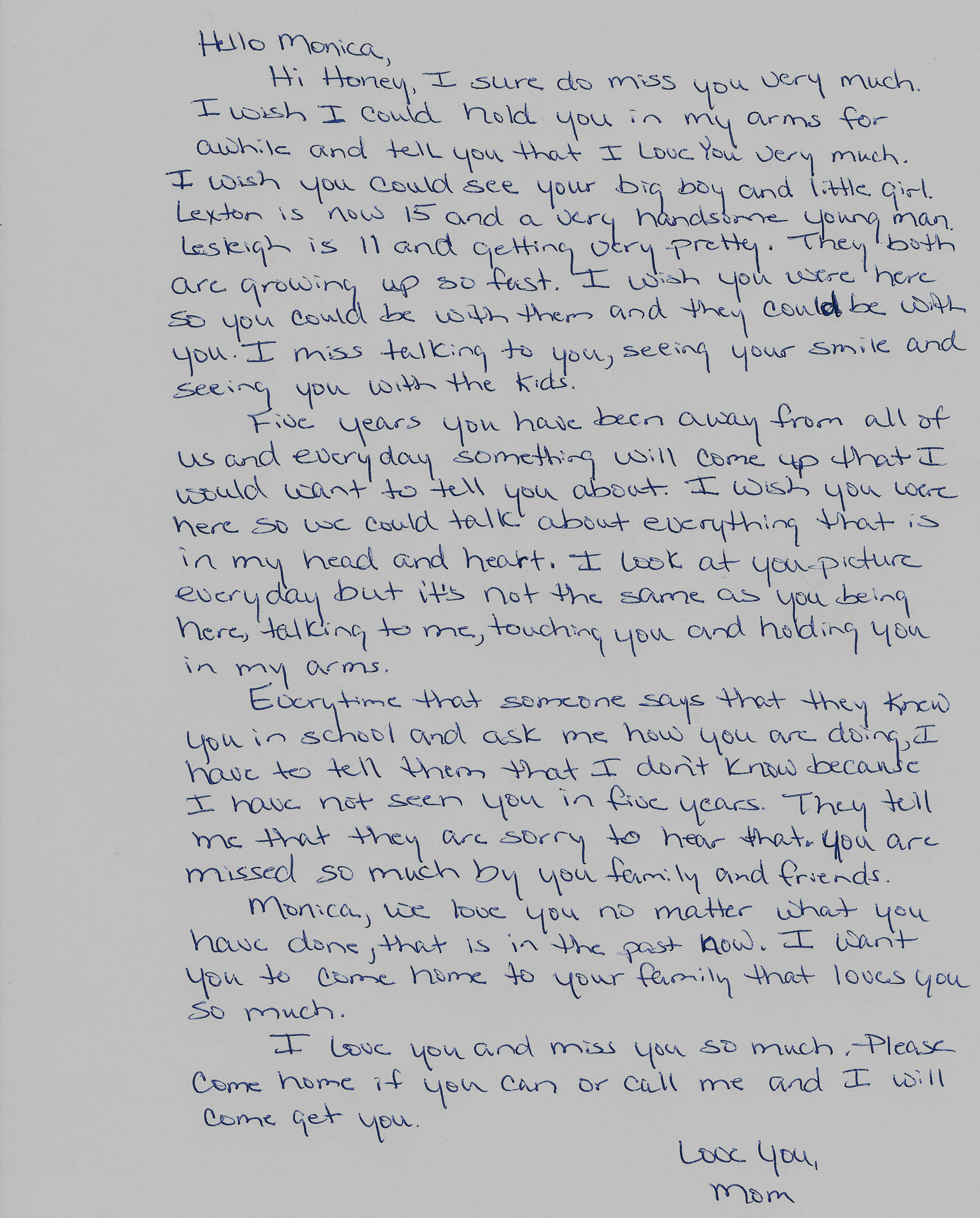 A Letter To Mom.Letter From Mom